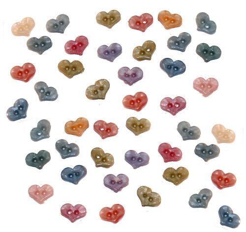 Knopen in hart vorm