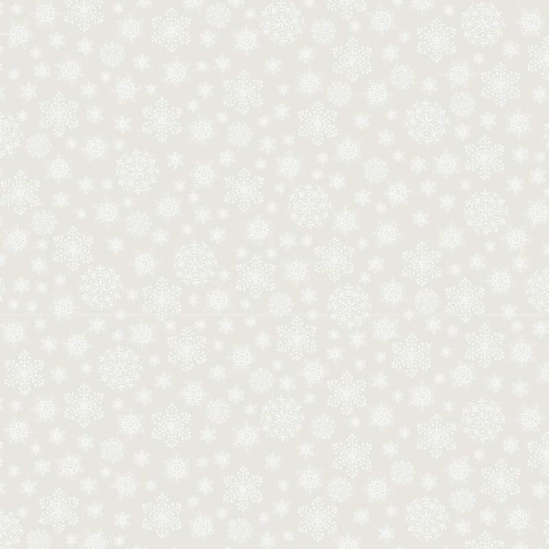 Make ready for Christmas by Natalie Bird stof met sterren en ijskristallen DV3300