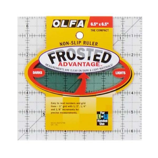 Olfa Quilt liniaal anti slip vierkant  6,5 x 6,5 inch