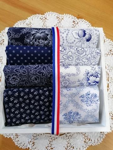 pakket 5 Westfalen blauw - wit