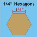 "hexagon mallen 1/4 "" inch"