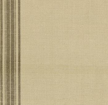 theedoekenstof (tea toweling) linnenkleur met donkerbruine streep