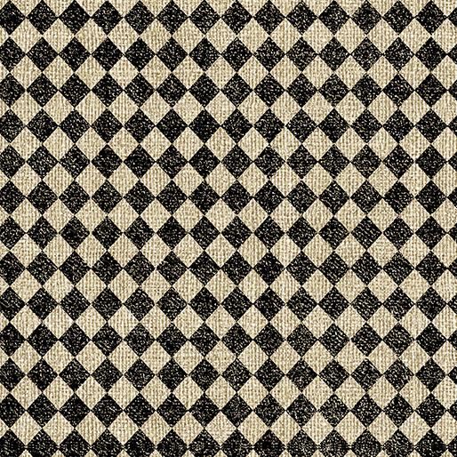 Quiltstof Diamond print zwart / tan 1019172