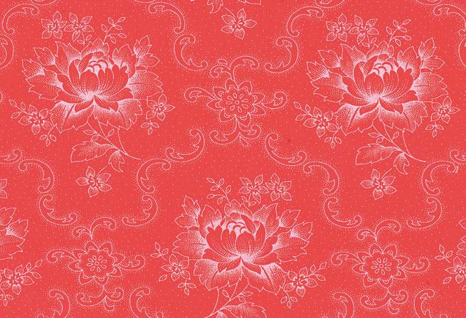 Westfalenstof pioenroos rood - wit 010508012