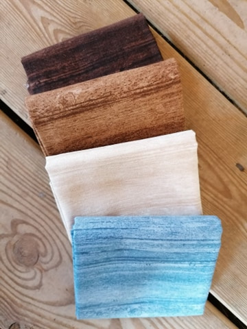 Quiltstof washed wood assorti