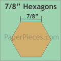 "hexagon mallen 7/8 ""inch"