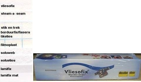 Dubbelzijdige plak vlieseline - Vliesofix