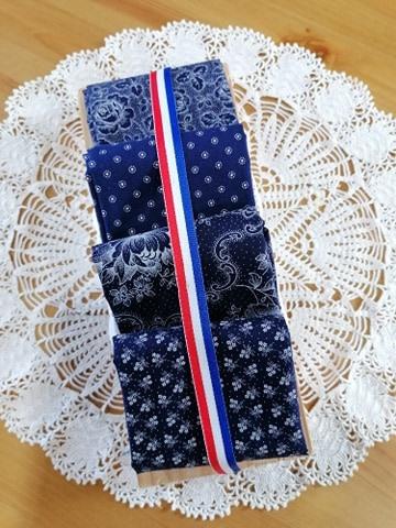 pakket 3 Westfalen blauw - wit