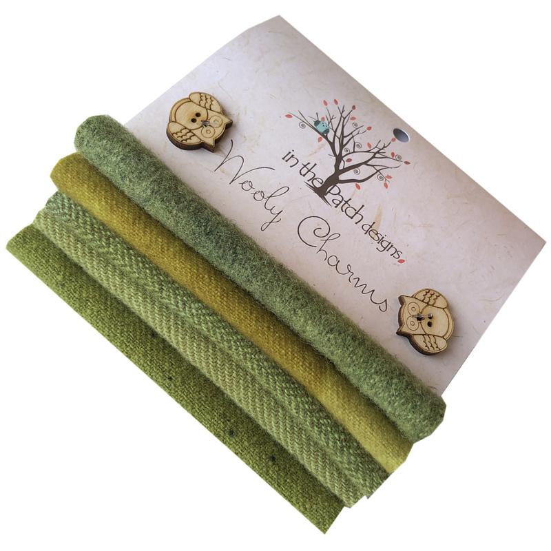 Wooly charms groen 4702 groen moss