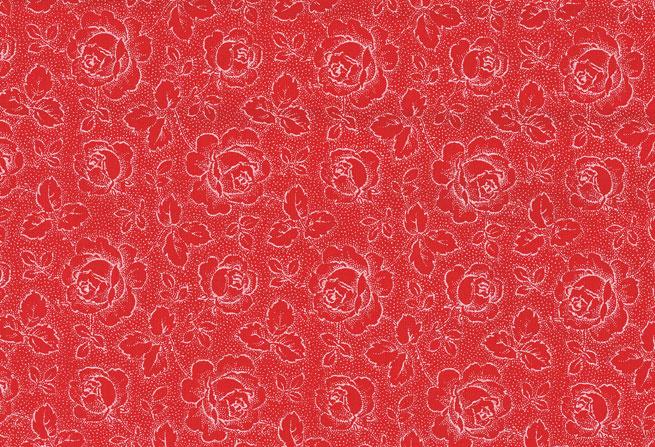 Westfalenstof Fries roosje rood - wit 010507082