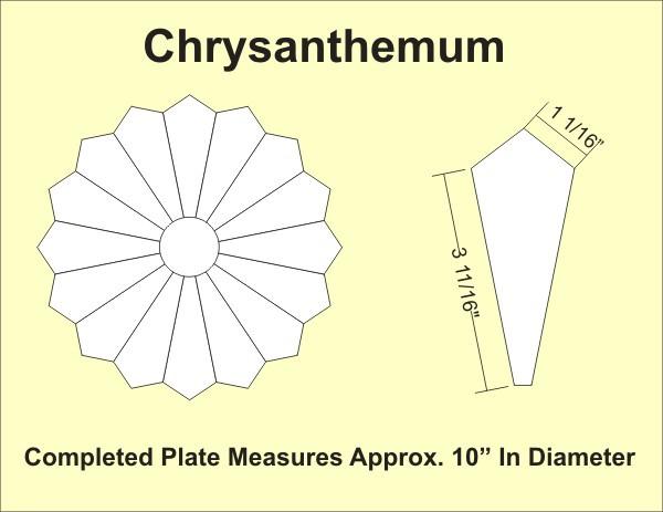 Paper pieces chrysanthemum