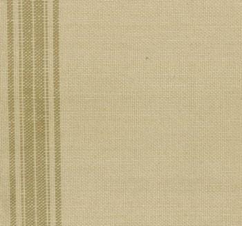 theedoekenstof (tea toweling) linnenkleur met lichtbruine streep