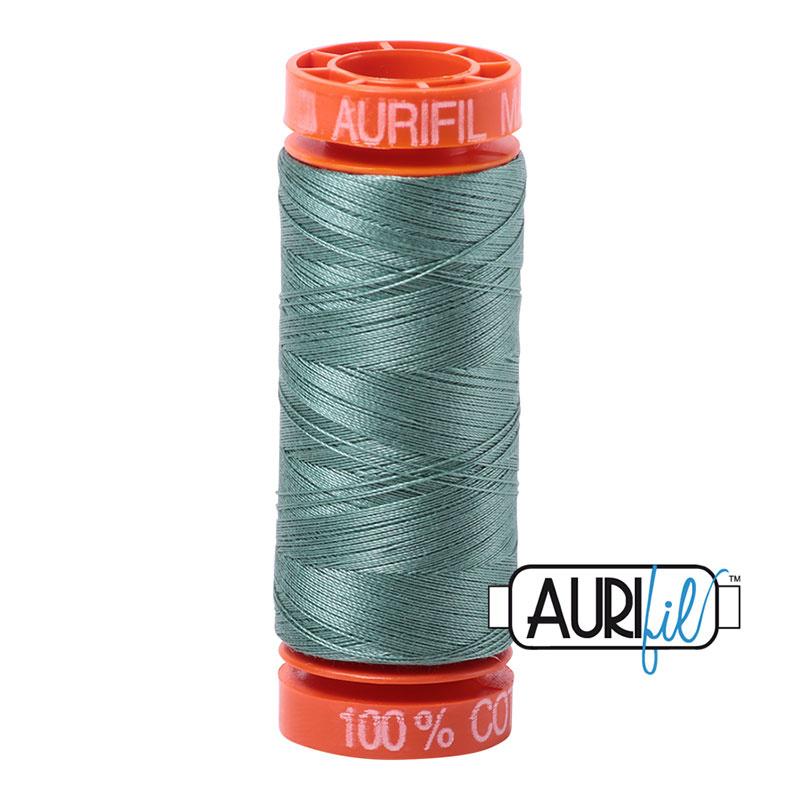 Aurifil Mako50 #2850  Med Juniper groen/blauw- 200 meter