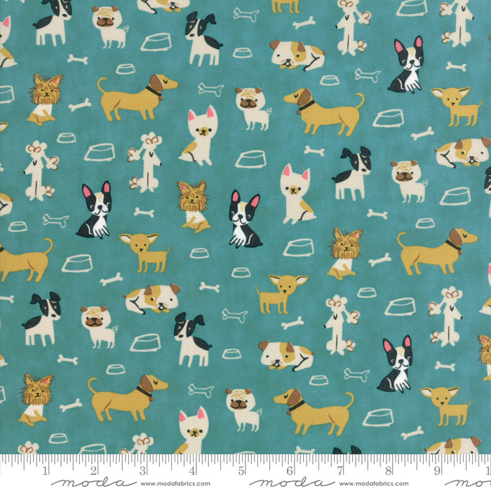 Quiltstof Woof woof Meow