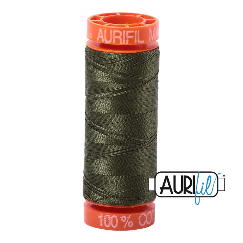Aurifil Mako50 #5023 Medium Green - 200 meter