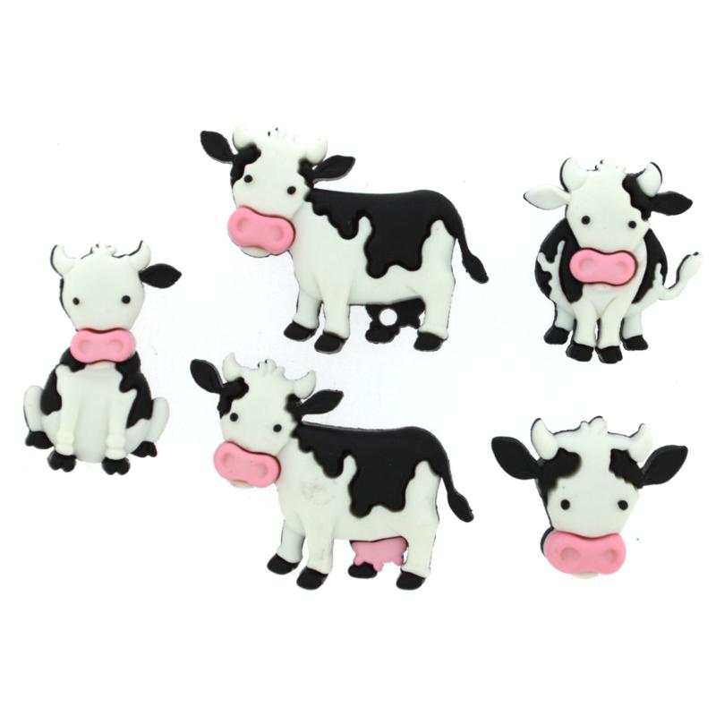 Knoop in de vorm van grappige koe