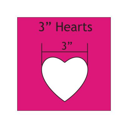 """Mal in de vorm van hart 3 """" inch"""
