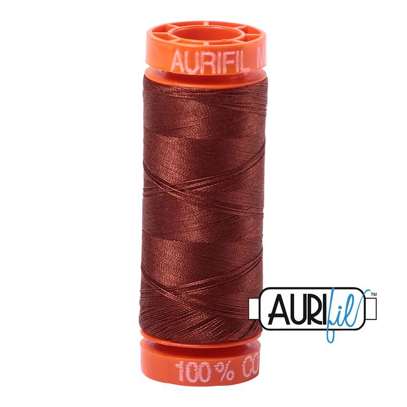 Aurifil Mako50 #4012 Copper Brown - 200 meter