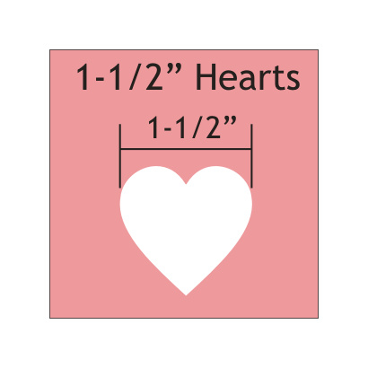 """Mal in de vorm van hart 1 1/2 """" inch"""