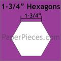 "hexagon mallen 1 - 3/4 "" inch"
