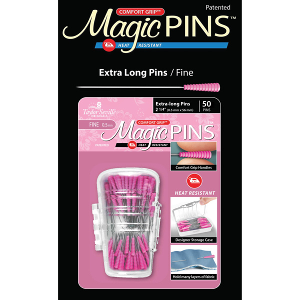 Taylor Seville Magic pins patchwork extra long - dikte 0.5 mm.