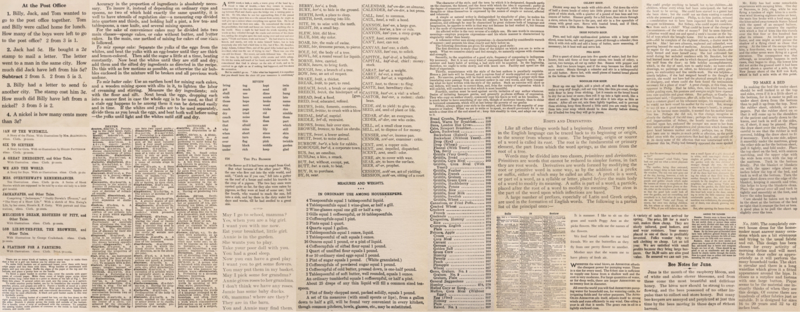 Flea Market Moxie stof met print van letters in boek of krant  7366 11D