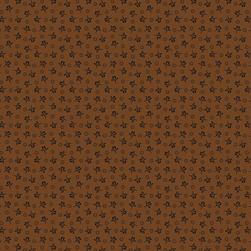 Quiltstof Modern Antiques Rose Buds Brown 214077