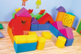"""Speelhoek foam """"Groot"""" (rood, geel, blauw, oranje, paars)"""
