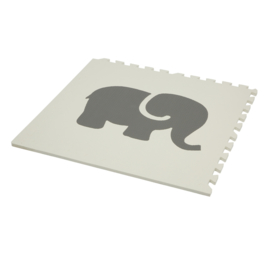 Speelmat Dieren Grijs-Wit of Wit-Grijs / 4 tegels (60 x 60 x 1,2 cm)