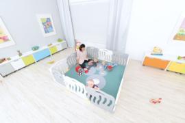 Speelmat/speelkleed/boxkleed Spiegels (190 x 190 cm)