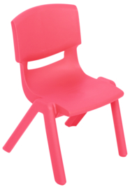 Kinderopvang stoelen kunststof (in rood maat 3)