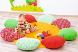 Speelmat/speelkleed Bloem (kleur)