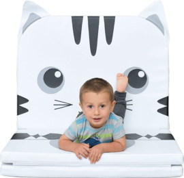 Speelmat/speelkleed/Zitkussen Koe of Kat opvouwbaar (180 x 80 x 5 cm)