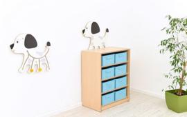 Wandspel Muurspel Hond