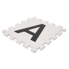 Speelmat alfabet/cijfers/figuren Wit-Zwart 3,6 m² / 40 tegels (30 x 30 x 1,2 cm)