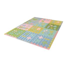 Speelmat cijfers/figuren / 12 tegels (30 x 30 x 1,2 cm) KLEUREN of PASTEL