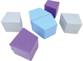 Set van (6) grote foam zitjes/poefjes