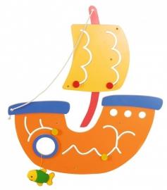 Wandspel Muurspel Piratenschip met Golven