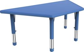 SALE! Kinderopvang tafel kunststof (blauw - trapezium)