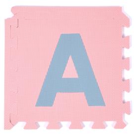 Speelmat alfabet/figuren Pastel 2,86 m² / 30 tegels (30 x 30 x 1,2 cm)