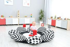 Speelmat/speelkleed Bloem (zwart-wit)