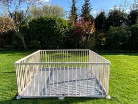 Binnen-/buitenspeelkleed (voor playpens 7,32 m / 180 x 180 cm) antraciet / dubbelzijdig met lussen