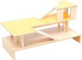 Verrijdbaar speelmeubel/opbergmeubel met flexibele bovenkant (11 opties)