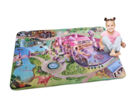 SALE! Ultrazacht speelkleed prinsessenkasteel (70 x 95 cm of 130 x 180 cm)