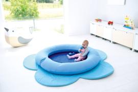 Speelmat/speelkleed Bloem (blauw) 169 cm