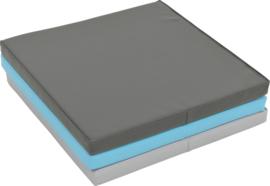 Sportmat/Gymmat/Speelmat Blauw, Rood/Oranje of Zwart/Blauw/Grijs (180 x 60 x 5 cm) opvouwbaar