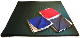 Binnen/buitenspeelkleed (voor playpens 7,32 m / 180 x 180 cm) rood/groen/antraciet/blauw