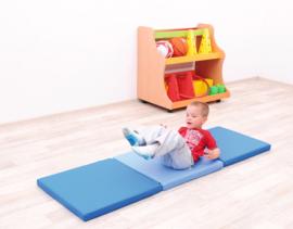 Sportmat/Gymmat/Speelmat Blauw of  Rood/Oranje (180 x 60 x 5 cm) opvouwbaar