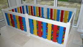 Kunststof grondbox/playpen 7,3 meter (75 cm) Kleuren