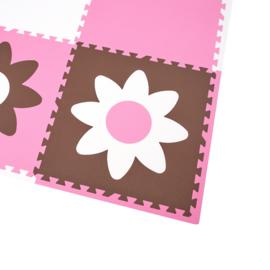 Speelmat Bloemen / 9 tegels (60 x 60 x 1,2 cm)